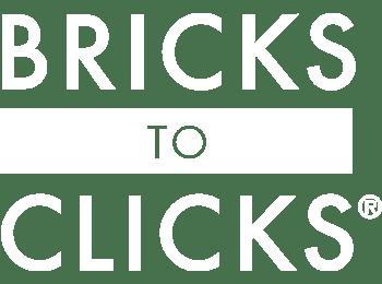 White Bricks to Clicks Logo