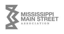 Mississippi Main Street Logo Gray